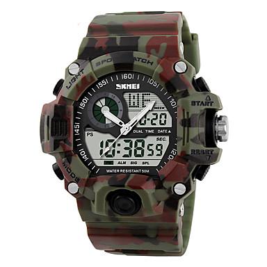 Χαμηλού Κόστους Ανδρικά ρολόγια-Ανδρικά Αθλητικό Ρολόι Στρατιωτικό Ρολόι Ρολόι Καρπού Χαλαζίας Ψηφιακό καουτσούκ Μαύρο / Πράσινο 30 m Ανθεκτικό στο Νερό Συναγερμός Ημερολόγιο Αναλογικό-Ψηφιακό καμουφλάζ - Κόκκινο Πράσινο Μπλε / LCD