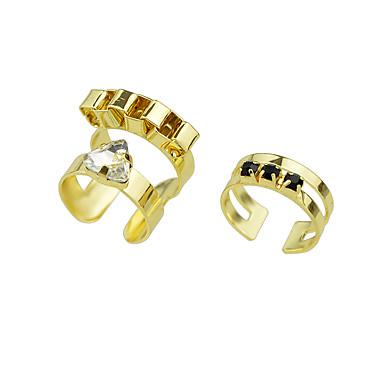 Κρίκοι Causal Κοσμήματα Κράμα Στρας Γυναικεία Δαχτυλίδι 1set,6 Χρυσαφί Ασημί