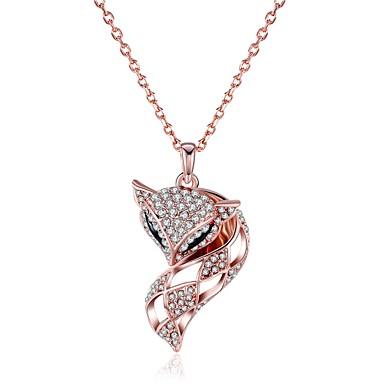 Kadın's Tilki Hayvan Kişiselleştirilmiş Wzór geometryczny Eşsiz Tasarım Sallantılı Stil Hayvan Tasarımı Yapay elmas Bohem Euramerican