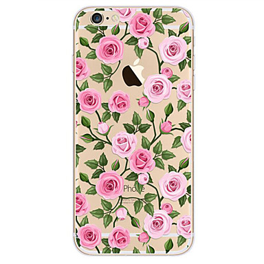 Kılıf Na Apple iPhone X iPhone 8 iPhone 6 iPhone 7 Plus iPhone 7 Ultra cienkie Wzór Czarne etui Kwiaty Miękkie TPU na iPhone X iPhone 8