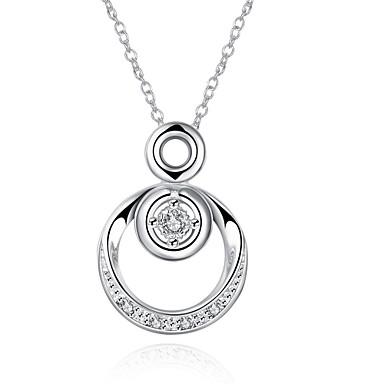 Γυναικεία Circle Shape Μοναδικό Κρεμαστό Βίντατζ Τεχνητό διαμάντι Κύκλος Πανκ Λατρευτός Χιπ-Χοπ Euramerican Μοντέρνα Κρεμαστά Κολιέ Cubic