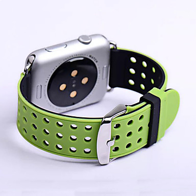 시계 밴드 용 Apple Watch Series 3 / 2 / 1 Apple 클래식 버클 실리콘 손목 스트랩