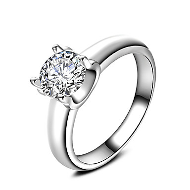 Inele Nuntă Petrecere Ocazie specială Zilnic Casual Bijuterii Zirconiu Inel de logodna Verighete Inel 1 buc,6 7 8 9 10 Argint