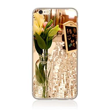 Için Temalı Pouzdro Arka Kılıf Pouzdro Çiçek Yumuşak TPU için AppleiPhone 7 Plus iPhone 7 iPhone 6s Plus/6 Plus iPhone 6s/6 iPhone