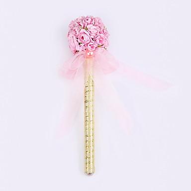 νέα κορδέλα καθαρό χειροποίητο λουλούδι γάμο μπάλα κόμμα υπογραφή μαρκαδόρο στυλό (refill χρυσό)
