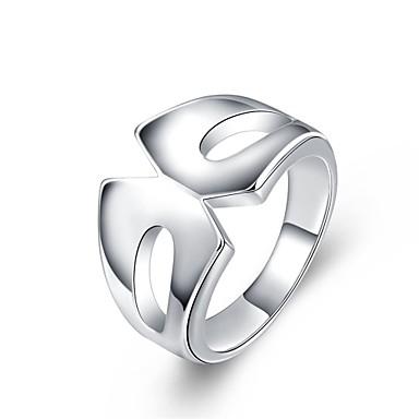 Pierścionki Codzienny Casual Biżuteria Miedź Posrebrzany Damskie Pierscionek 1szt,7 8 Srebrne