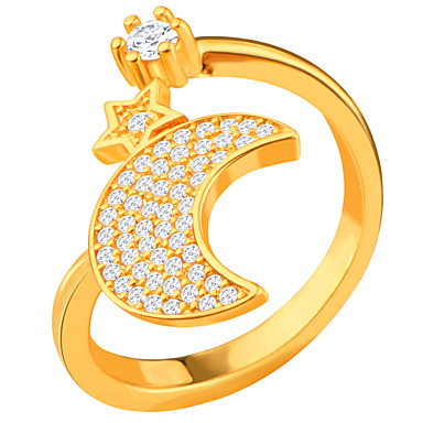 Erkek Kadın İfadeli Yüzükler Yüzük Mücevher Zirkon Kübik Zirconia alaşım MOON Mücevher Günlük