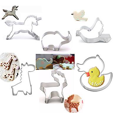 paistopinnan Cartoon muotoinen Animal Piirakka Kakku Cookie Ruostumaton teräs DIY Korkealaatuinen