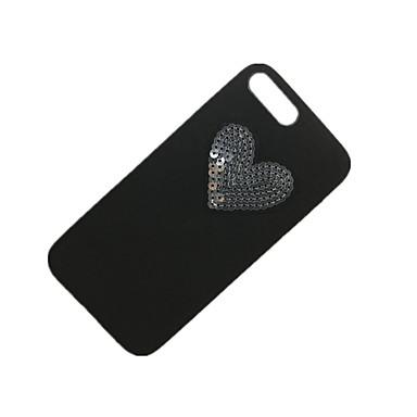 Için Taşlı Kendin-Yap Pouzdro Arka Kılıf Pouzdro Solid Renkli Yumuşak PC için Apple iPhone 7 Plus iPhone 7