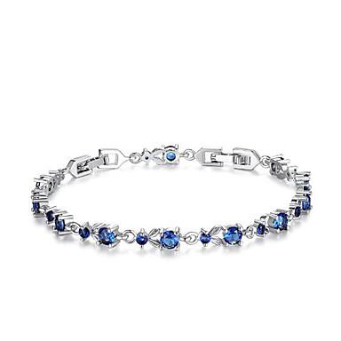 للمرأة أساور السلسلة والوصلة ترف موضة زركون مكعبات زركونيا تقليد الماس صليب وردة مجوهرات هدية الفالنتين مجوهرات