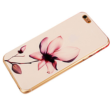 hoesje Voor Apple iPhone 6 iPhone 6 Plus Patroon Achterkant Bloem Zacht TPU voor iPhone 6s Plus iPhone 6s iPhone 6 Plus iPhone 6
