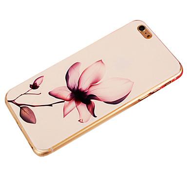 Capinha Para Apple iPhone 6 iPhone 6 Plus Estampada Capa traseira Flor Macia TPU para iPhone 6s Plus iPhone 6s iPhone 6 Plus iPhone 6