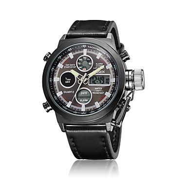 Bărbați Ceas Sport Ceas Elegant Ceas La Modă Ceas de Mână Ceas digital Quartz Piloane de Menținut Carnea Piele Autentică Bandă Charm