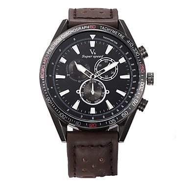 Erkek Spor Saat Elbise Saat Moda Saat Bilek Saati Quartz Gerçek Deri Bant İhtişam Günlük Çok-Renkli