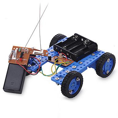 rák királyság diy modell összeszerelt játékok technológia távirányítós motor kis autó 36