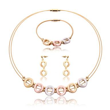 للمرأة مجموعة مجوهرات مجموعة مجوهرات - الفولاذ المقاوم للصدأ ذهبي