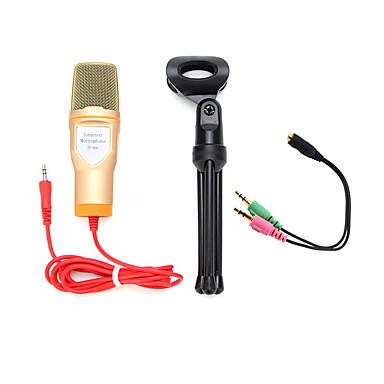2017 νέα χρήσιμο ζεστό ενσύρματη υψηλής ποιότητας μικρόφωνο στερεοφωνικό πυκνωτικό με θήκη με κλιπ για να κουβεντιάσει καραόκε φορητό