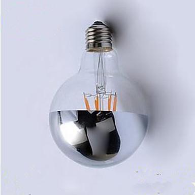E26/E27 LED Λάμπες Πυράκτωσης G95 4 leds Ενσωματωμένο LED Διακοσμητικό Θερμό Λευκό 400lm 2700K AC220V