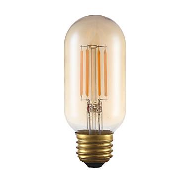 E26 LED-hehkulamput T 4 ledit COB Himmennettävissä Koristeltu Amber 300lm 2200K AC 110-130V