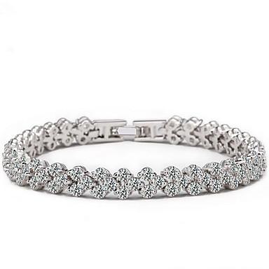 Damskie Bransoletki i łańcuszki na rękę Kryształ Natura Europejski Kryształ górski Imitacja diamentu Kwiat Biżuteria