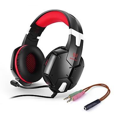 KOTION EACH G1200 Ponad uchem / Opaska na głowę Przewodowy / a Słuchawki Piezoelektryki Plastikowy Telefon komórkowy Słuchawka Izolacja