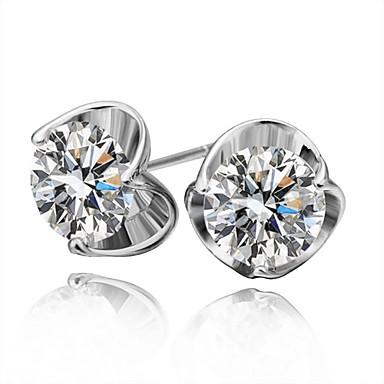 Vidali Küpeler Cam alaşım Gümüş Mücevher Için Günlük 1 çift