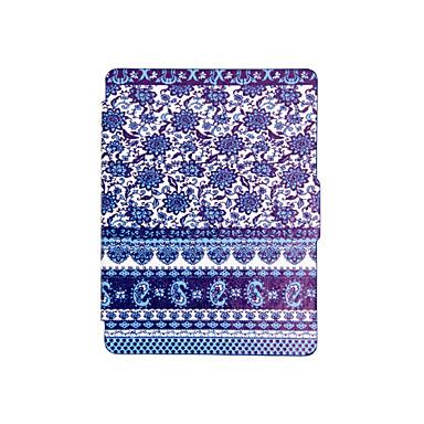 caixa protectora impressa inteligente couro tampa para Kobo toque 2.0 (2015) azul e branco da porcelana caso reader-book