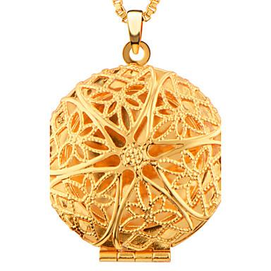 Damskie Naszyjniki z wisiorkami Biżuteria Circle Shape Geometric Shape Pozłacane Modny Biżuteria Na Ślub Codzienny