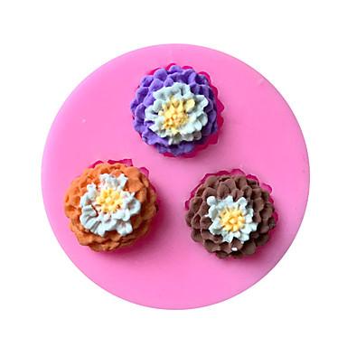 paistopinnan Flower for Cake for Cookie Suklaa Silikonikumi Ympäristöystävällinen