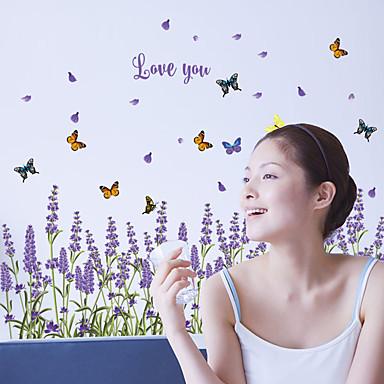 لواصق حائط مزخرفة - الكلمات ونقلت ملصقات الحائط أزياء / المزين بالأزهار / كلمات ومصطلحات غرفة الجلوس / غرفة النوم / غرفة الطعام
