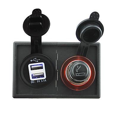 zapalniczki 12V / 24V i 3.1a papierosa Adapter USB gniazdko z panelem uchwytu Obudowa dla ciężarówek łodzi samochodów kempingowych