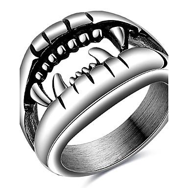 Męskie Pierscionek Pierścień oświadczenia Silver Stal tytanowa Impreza Codzienny Casual Sport Biżuteria kostiumowa