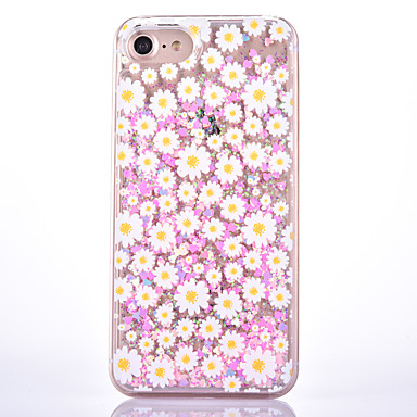 Na Etui iPhone 7 Etui iPhone 7 Plus Etui Pokrowce Z płynem Wzór Etui na tył Kılıf Kwiaty Twarde PC na Apple iPhone 7 Plus iPhone 7