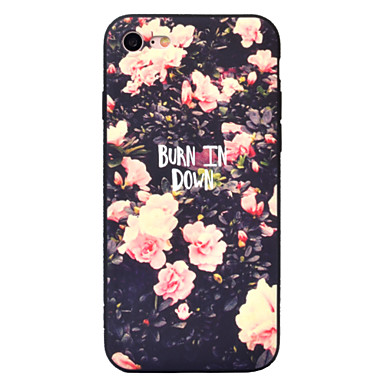 Na Etui iPhone 7 Etui iPhone 7 Plus Etui iPhone 6 Etui Pokrowce Wzór Etui na tył Kılıf Kwiat Miękkie TPU na AppleiPhone 7 Plus iPhone 7