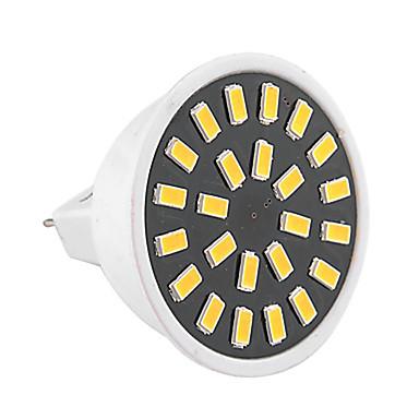 1PC 3W 400-500lm GU5.3(MR16) LED ضوء سبوت MR16 24 الخرز LED مصلحة الارصاد الجوية 5733 ديكور أبيض دافئ أبيض كول 110-130V 220-240V