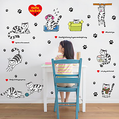Ζώα Κινούμενα σχέδια Μόδα Αυτοκολλητα ΤΟΙΧΟΥ Αεροπλάνα Αυτοκόλλητα Τοίχου Διακοσμητικά αυτοκόλλητα τοίχου,Χαρτί Υλικό Αρχική Διακόσμηση