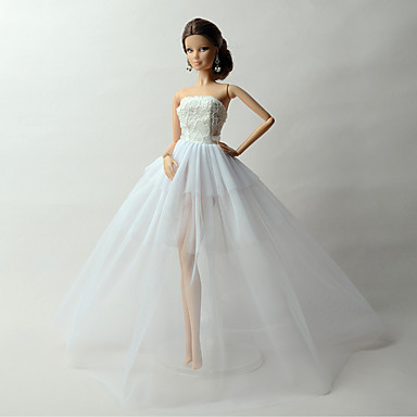 Prenses Elbiseler İçin Barbie Bebek Dantel organza Elbise İçin Kız Oyuncak bebek