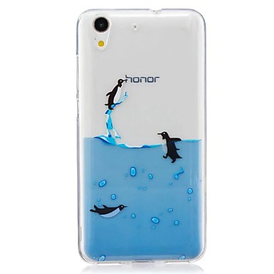 Pouzdro Uyumluluk Huawei Ultra İnce Temalı Arka Kılıf Hayvan Yumuşak TPU için Huawei Honor 5C
