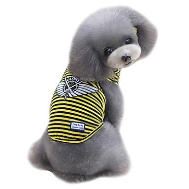 Câine Γιλέκο Îmbrăcăminte Câini Casul/Zilnic Modă Dungi Galben Rosu Verde Costume Pentru animale de companie