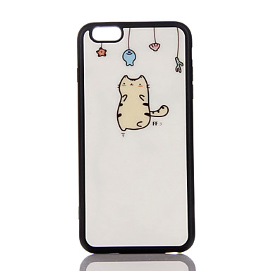 Etui Käyttötarkoitus Apple Ultraohut Takakuori Kissa Pehmeä TPU varten iPhone 7 Plus iPhone 7 iPhone 6s Plus iPhone 6 Plus iPhone 6s