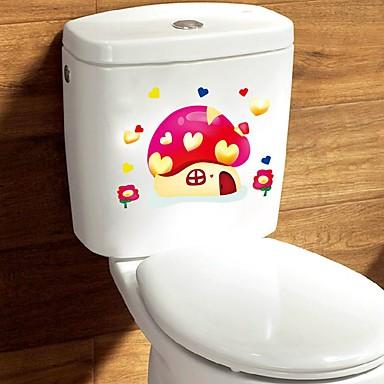 Desene Animate Romantic Abstract Perete Postituri Autocolante perete plane Autocolante de Perete Decorative Autocolante toaletă,Hârtie
