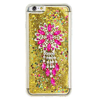 Için Akan Sıvı Kendin-Yap Pouzdro Arka Kılıf Pouzdro Glitter Parlatıcı Yumuşak TPU için AppleiPhone 7 Plus iPhone 7 iPhone 6s Plus/6 Plus