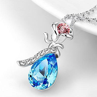 Coliere cu Pandativ Cristal Flower Shape Rose Cristal Stil Atârnat De Bază Bijuterii Pentru Zilnic Casual