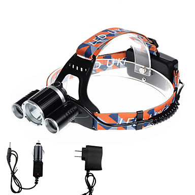 U'King Φακοί Κεφαλιού Μπροστινό φως LED 3000 lm 4.0 Τρόπος Cree XP-G R5 Cree XM-L T6 με φορτιστές Μικρό Μέγεθος Εύκολη μεταφορά
