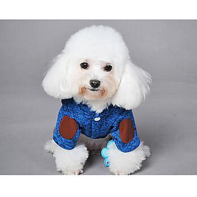 كلب المعاطف حللا ملابس الكلاب جميل صلب برتقالي أزرق داكن رمادي أصفر أزرق كوستيوم للحيوانات الأليفة