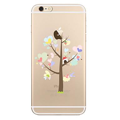 Pouzdro Uyumluluk Apple iPhone X iPhone 8 Plus Şeffaf Temalı Arka Kılıf ağaç Yumuşak TPU için iPhone X iPhone 8 Plus iPhone 8 iPhone 7