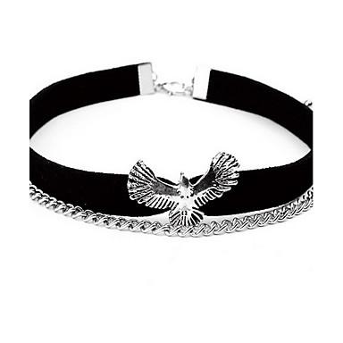 Damskie Eagle Circle Shape Zwierzę Kształt euroamerykańskiej Modny Podwójna warstwa Naszyjniki choker Naszyjniki z wisiorkami Skórzany