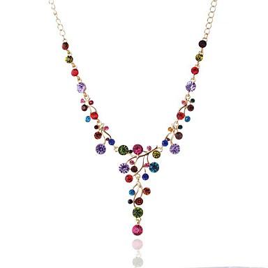 Pentru femei Lănțișoare Cristal Ștras Leaf Shape Cristal Ștras La modă Elegant Bijuterii Pentru Nuntă Petrecere