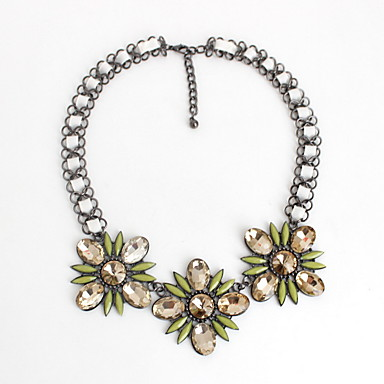 Dame Coliere Choker Bijuterii Bijuterii Piatră Preţioasă Aliaj La modă Personalizat Euramerican European Floral Bijuterii PentruPetrecere