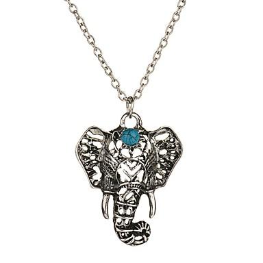 billige Modesmykker-Dame Halskædevedhæng Elefant Dyr Billig Vintage Bohemisk Euro-Amerikansk Folk Style Legering Sølv Halskæder Smykker Til Afslappet